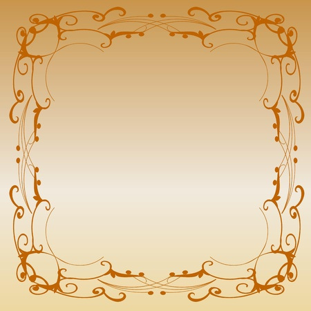 metal plate with vintage ornament Stock Vector - 13763504