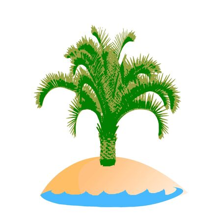 breezy: island and palm