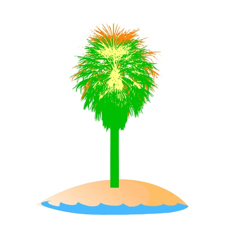 breezy: island and palm Illustration