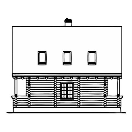 Wooden house Stock Vector - 13767364