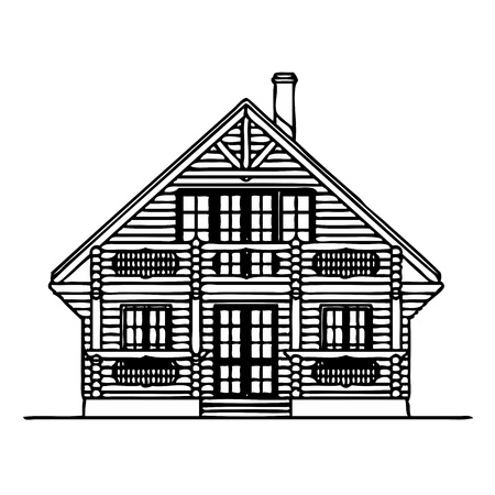 Wooden house  Stock Vector - 13767453