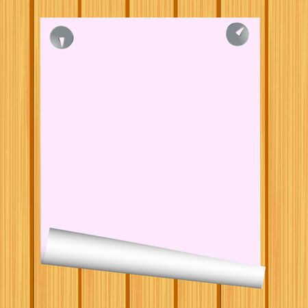 Blank paper on wood background  Vector