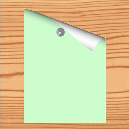 Пустой документ на фоне древесины