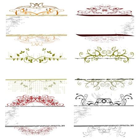 banner orizzontali: confini turbinio floreale per il testo
