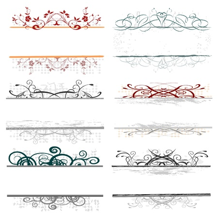 swirl floral borders for your text Vector