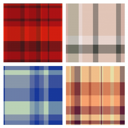 Tartan plaid fabric textile patterns Stock Vector - 13768741