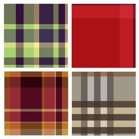 Tartan plaid fabric textile patterns Illustration