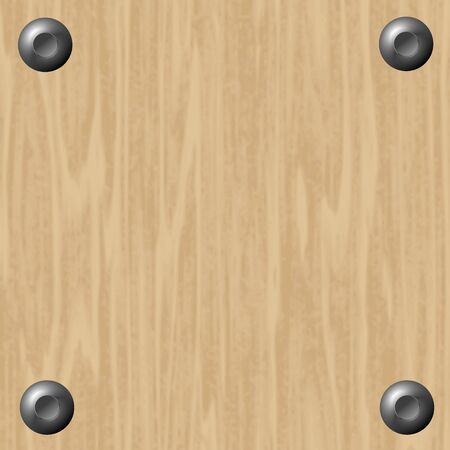 wood texture background with screws  Vector
