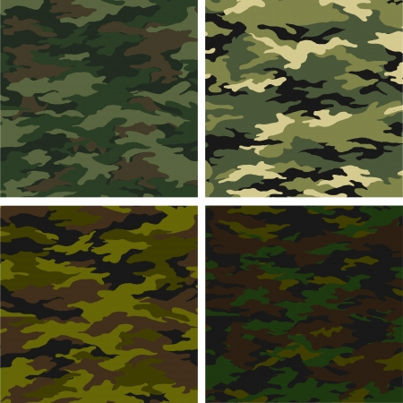 different camouflages Illustration