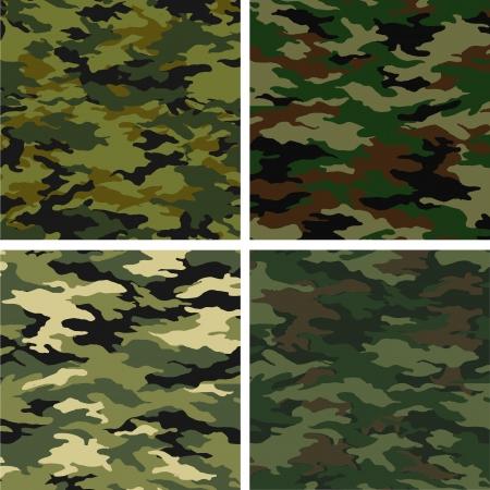 camouflage pattern: camuffamenti diversi