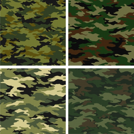khaki: different camouflages Illustration