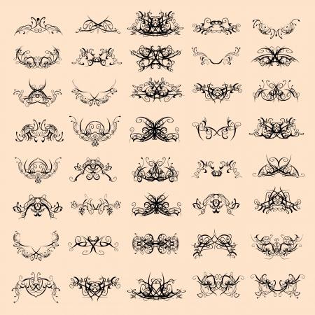 вихрем декоративные узоры - вектор