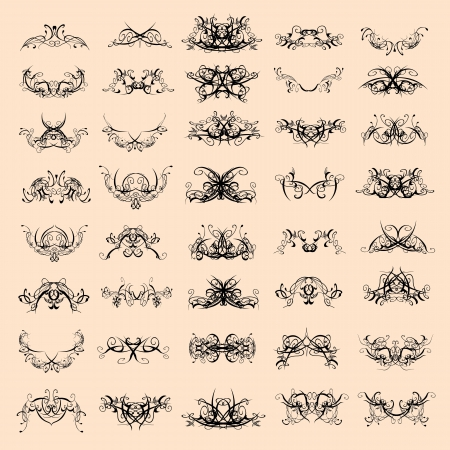 swirl decorative patterns - vector Vector