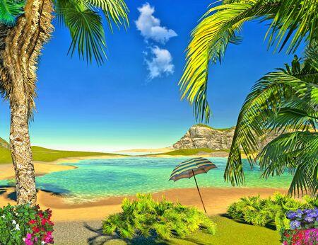 paradise lagoon Stock Photo - 14324819