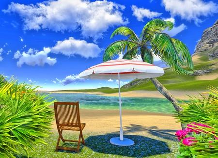 paradise lagoon Stock Photo - 14324752