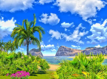 paradise lagoon Stock Photo - 14324723