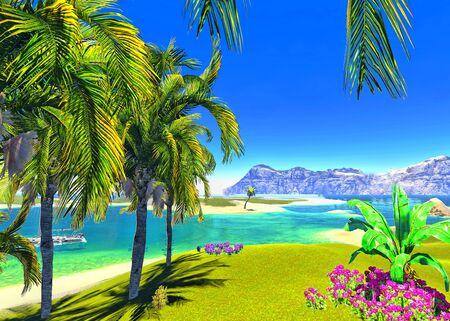 paradise lagoon Stock Photo - 14324824
