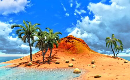 tropical island and palms Stock Photo - 14324701