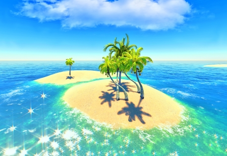islands and palms Stock Photo - 14324699