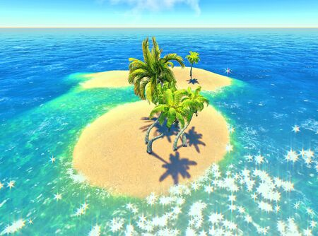 islands and palms Stock Photo - 14324713