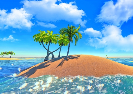 islands and palms Stock Photo - 14324720