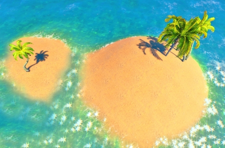 islands and palms Stock Photo - 14324729