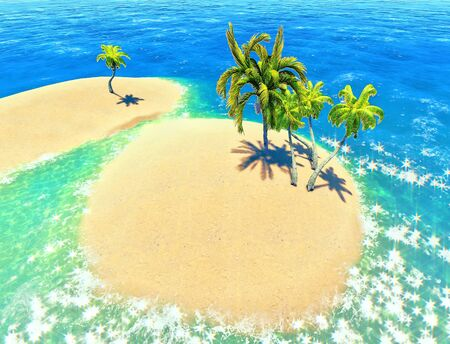 islands and palms Stock Photo - 14324737