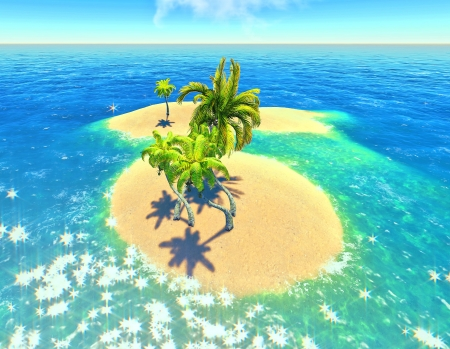 islands and palms Stock Photo - 14324706