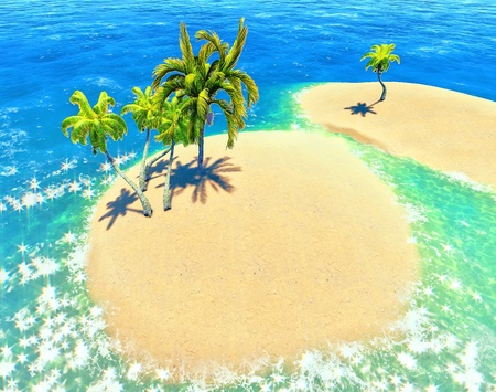 islands and palms Stock Photo - 14324730