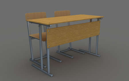 school desk: school desk and chairs