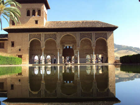 alhambra: Water Reflection at The Alhambra, Granada, Spain