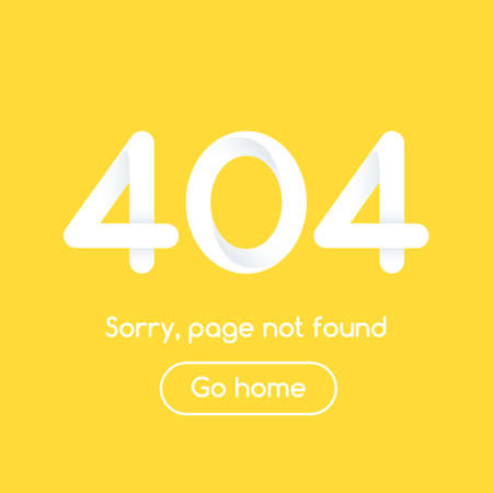 Error 404 page not found.