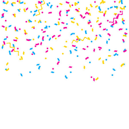 Abstract multicolored background. A lot of small falling confetti. Confetti falls from above