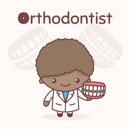 Alphabet professions, the Letter O - Orthodontist. Illustration