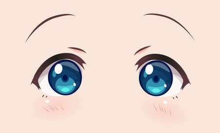 Real eyes anime (manga) girls, in Japanese style