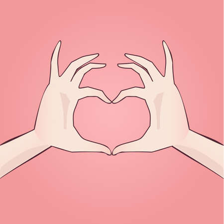 hand drawn heart shaped anime style (manga). Vectores