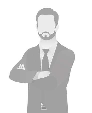 Default placeholder businessman half-length portrait photo avatar.