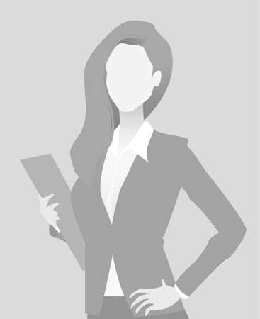 Default placeholder businesswoman half-length portrait photo avatar.