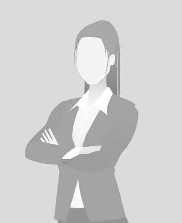 Default placeholder businesswoman half length portrait photo avatar.