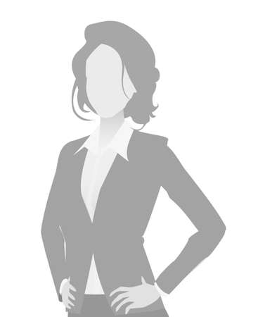 Default placeholder businesswoman half-length portrait photo avatar. Woman gray color Reklamní fotografie - 103284744