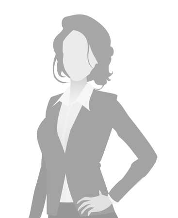 Default placeholder businesswoman half-length portrait photo avatar. Woman gray color Фото со стока - 103284771