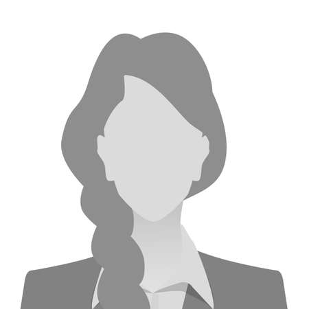 Person gray photo placeholder woman in costume on white background Ilustração