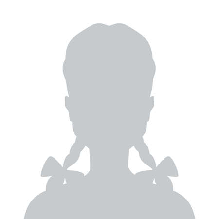 Person gray photo placeholder little gitl silhouette Ilustrace