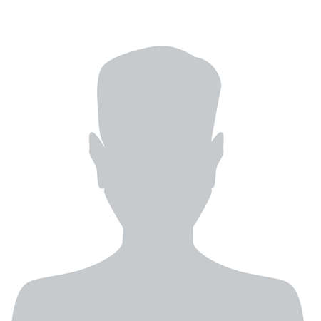 Person gray photo placeholder man silhouette on white background 向量圖像