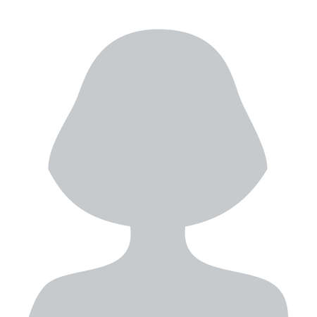 Person gray photo placeholder woman silhouette on white background Иллюстрация