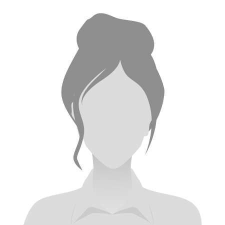 Person gray photo placeholder woman in shirt on white background Ilustrace