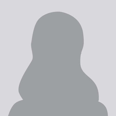 Person gray photo placeholder woman silhouette on gray background