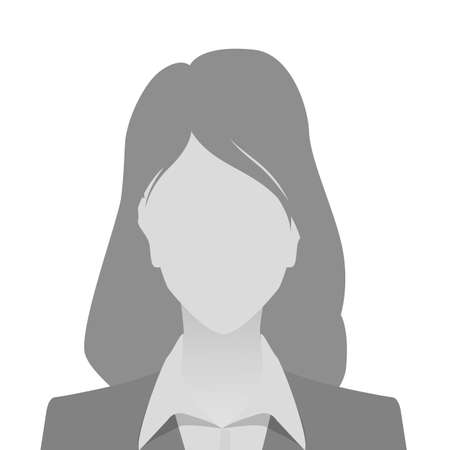Person gray photo placeholder woman in costume on white background Ilustrace