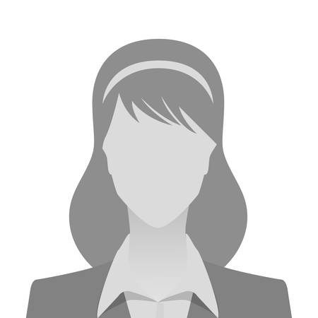 Person gray photo placeholder woman in costume on white background Illustration