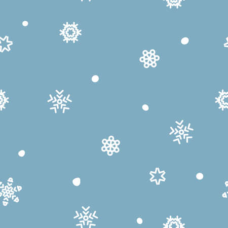 Seamless xmas vector snow flake pattern blizzard 向量圖像